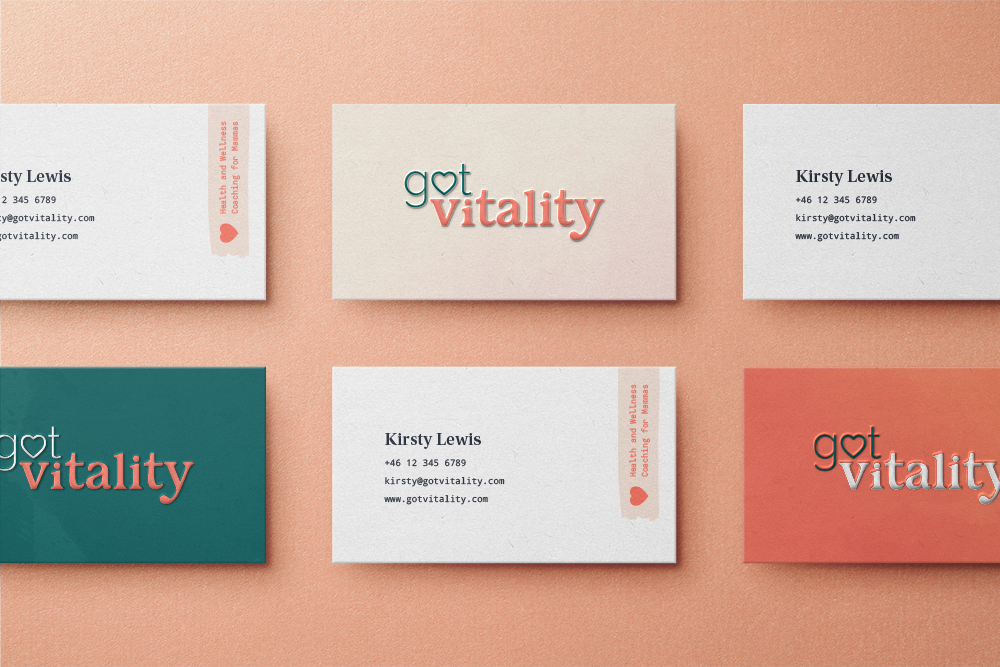 Colored Business cards for Got Vitality