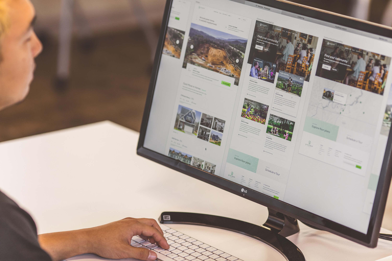 Website design for GreenTech Homes