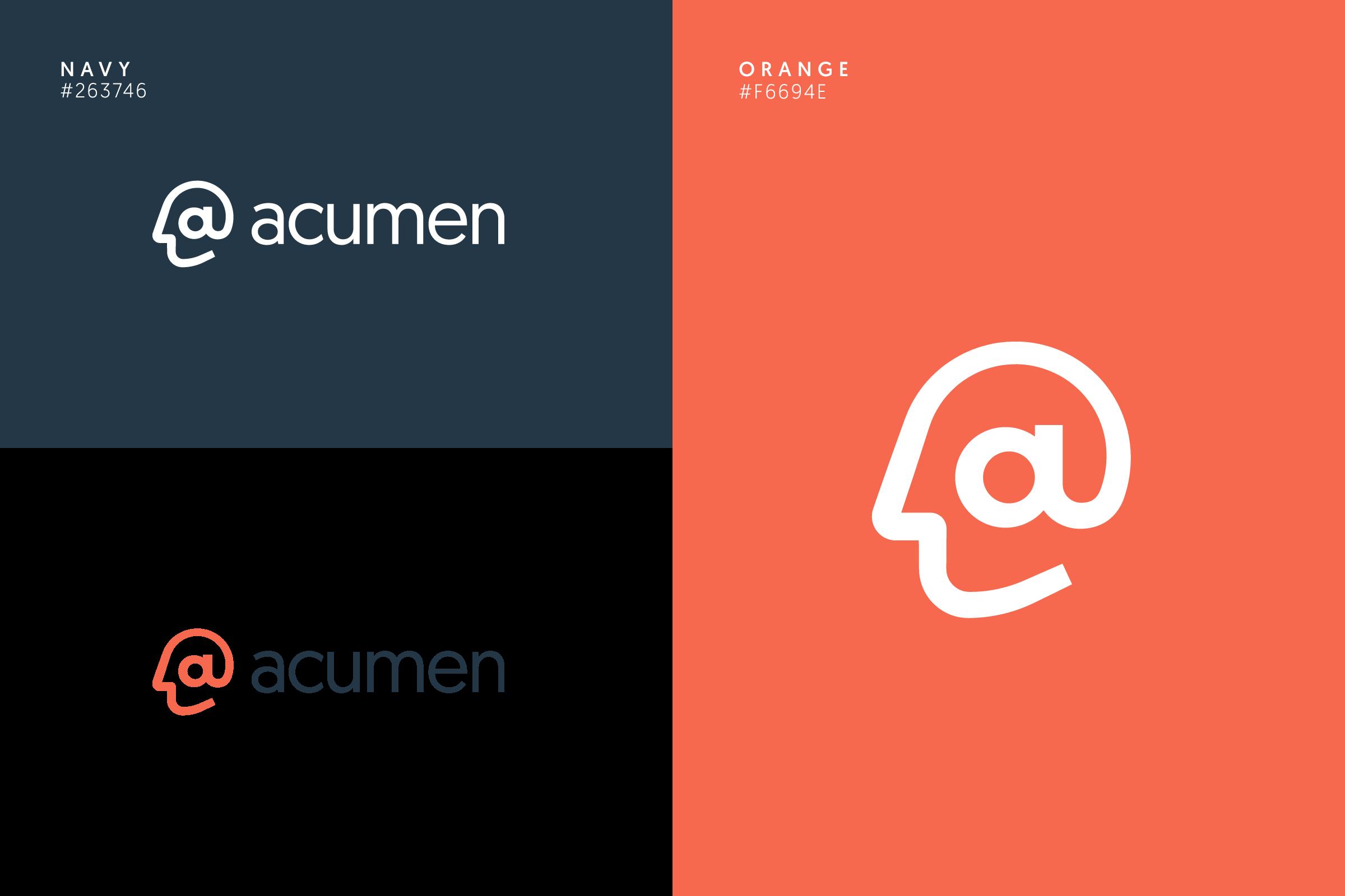 Diagram of the Acumen logo design