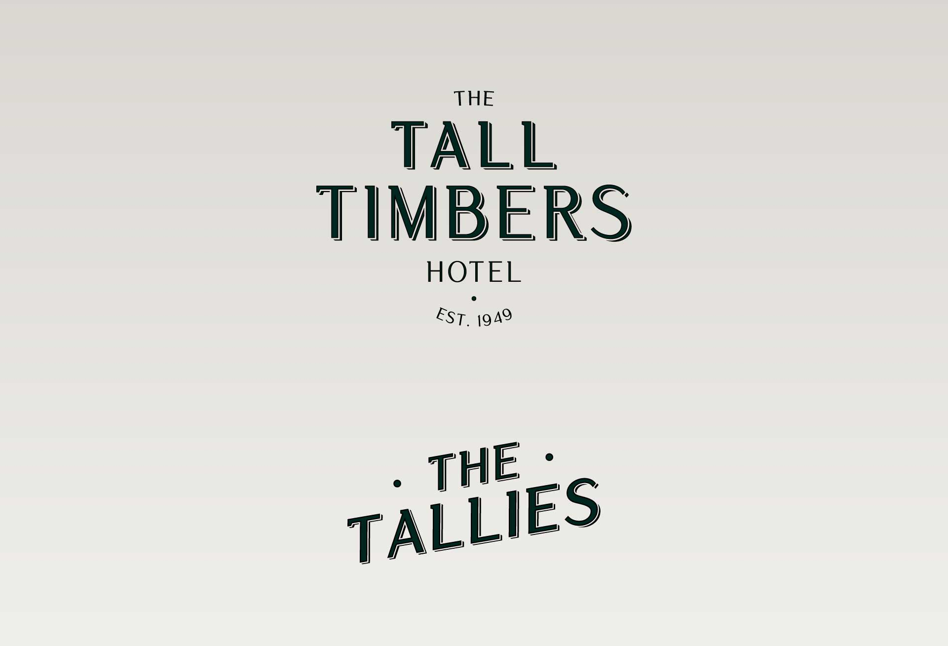 Vintage Logo Design for The Tall Timbers Hotel