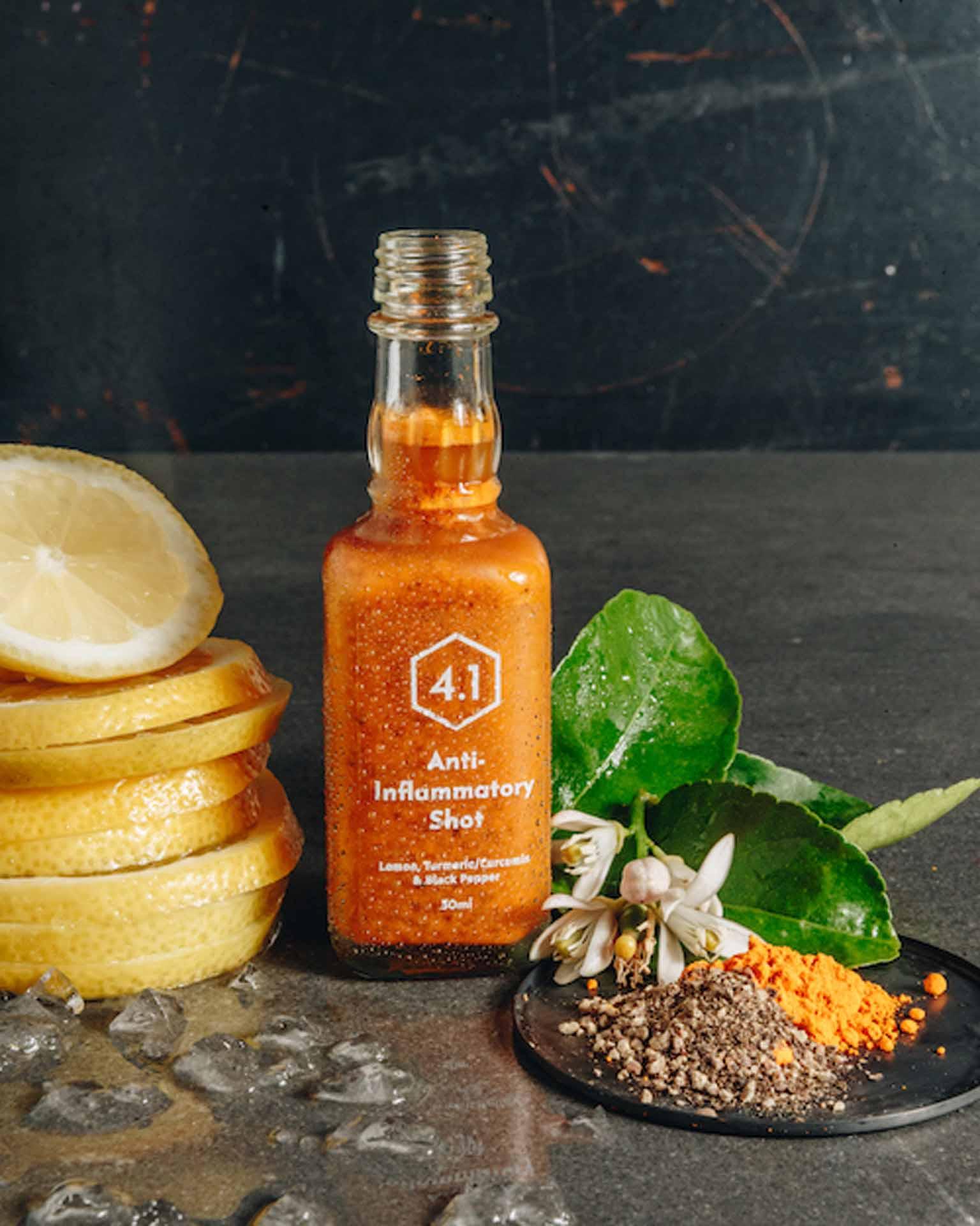 Simplistic label design for health juice turmeric shot