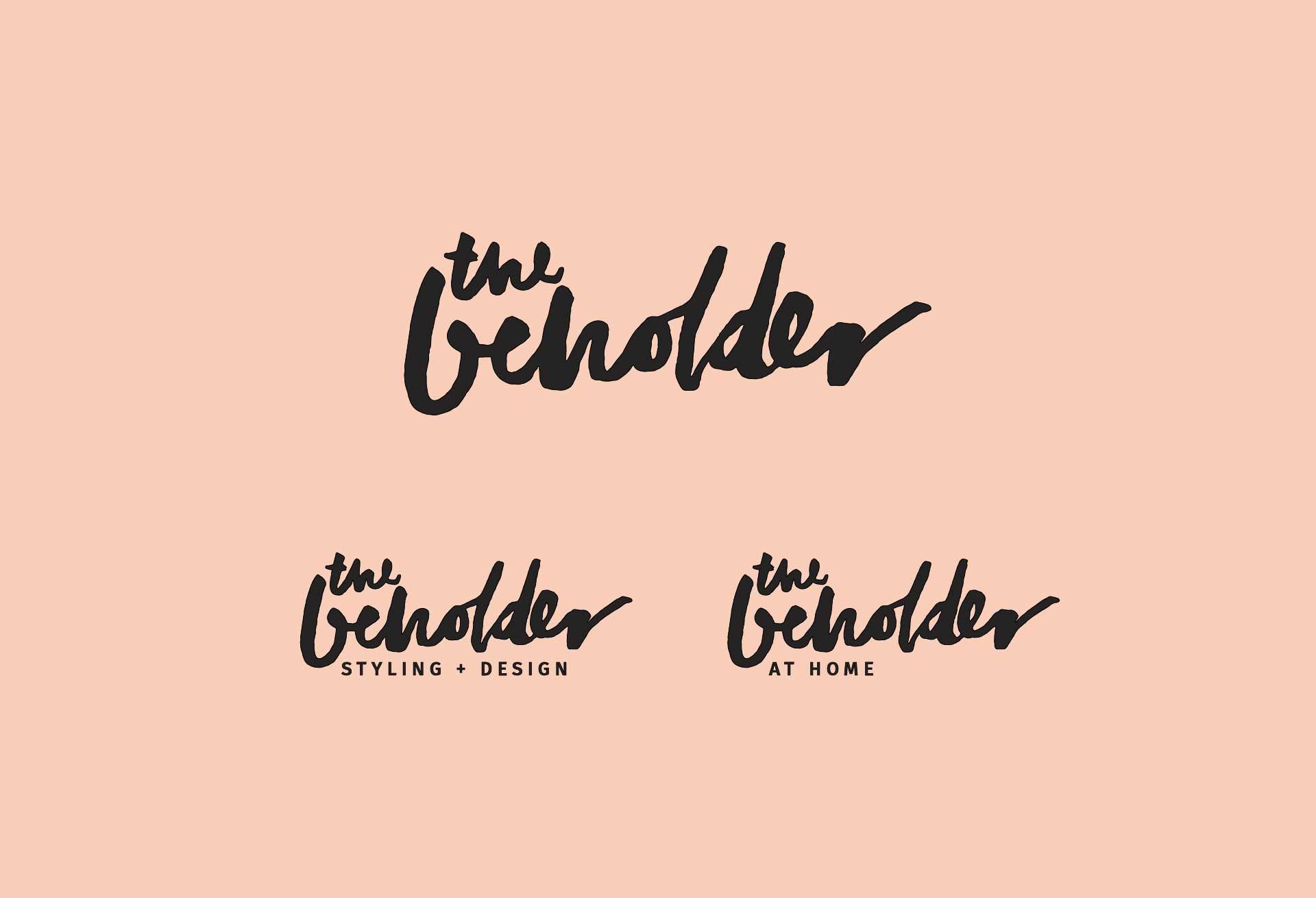 Logo design for The Beholder Styling + Design