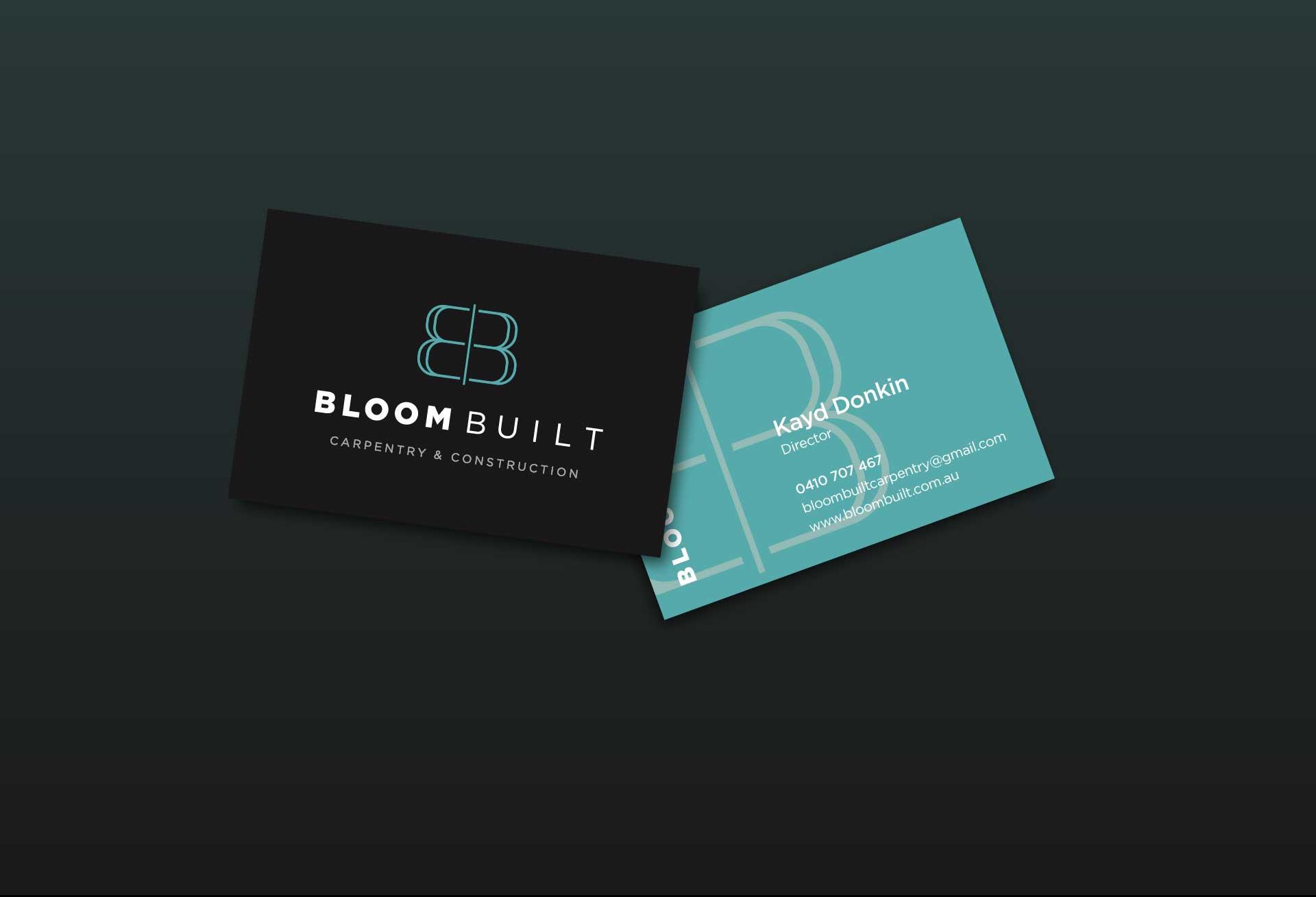 Premium business card design for Bloom Built