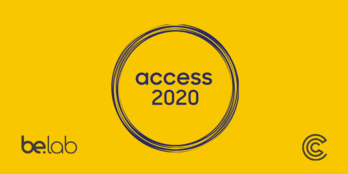 Access 2020 logo on a yellow backgroound
