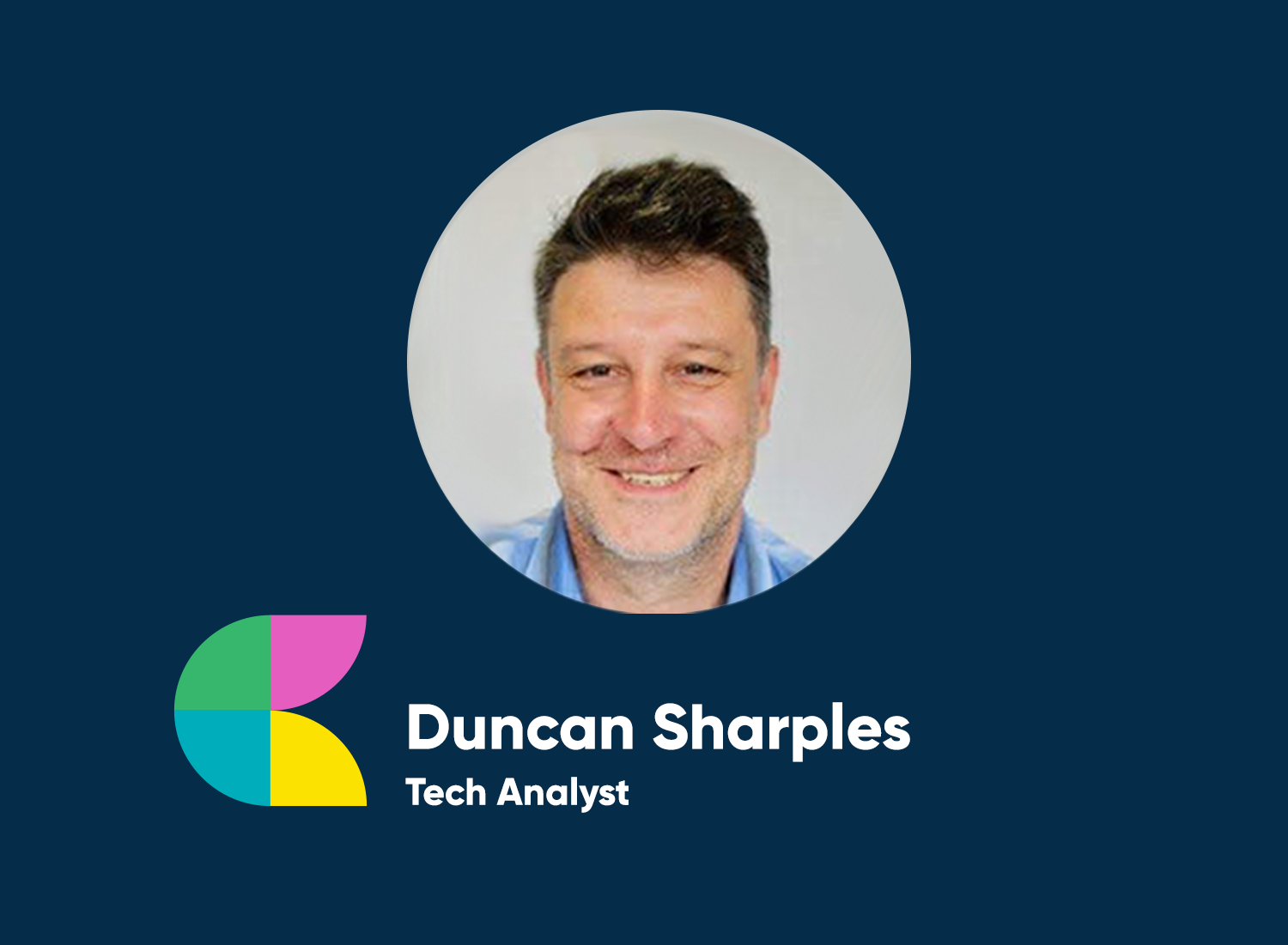 """A picture of Duncan smiling next to a quote by him saying: """"The multi-pronged approach of the Talent Shop goes far beyond just a basic recruitment service. Developing my skills and having access to a personal mentor was invaluable."""""""