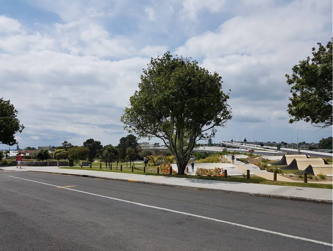 The Waterview Reserve park.