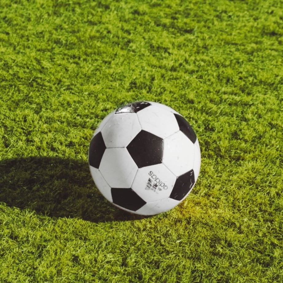 image showing a soccer ball on a soccer field