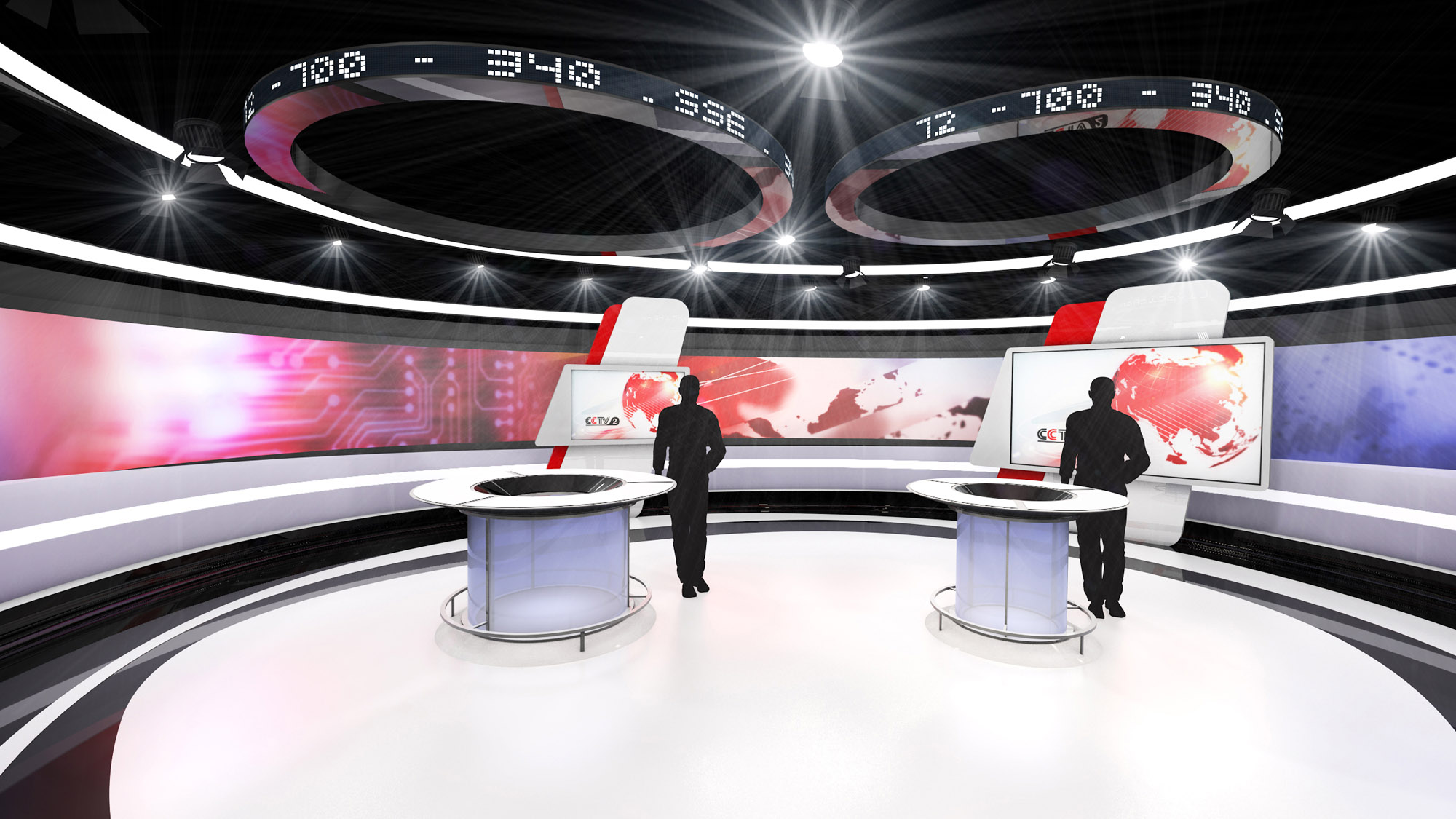 CCTV Peking, Setdesign Newsmagazine ...