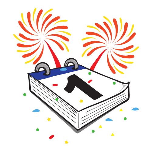 New Year's Day icon