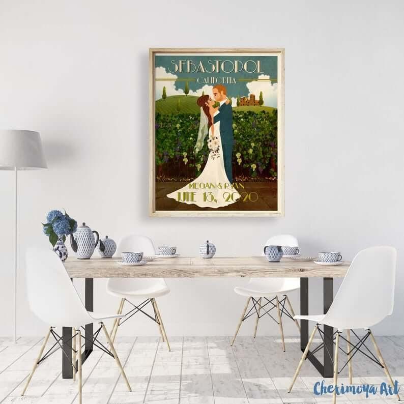 Custom Wedding Poster
