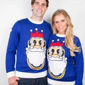 Matching His & Hers Biker Santa shirts