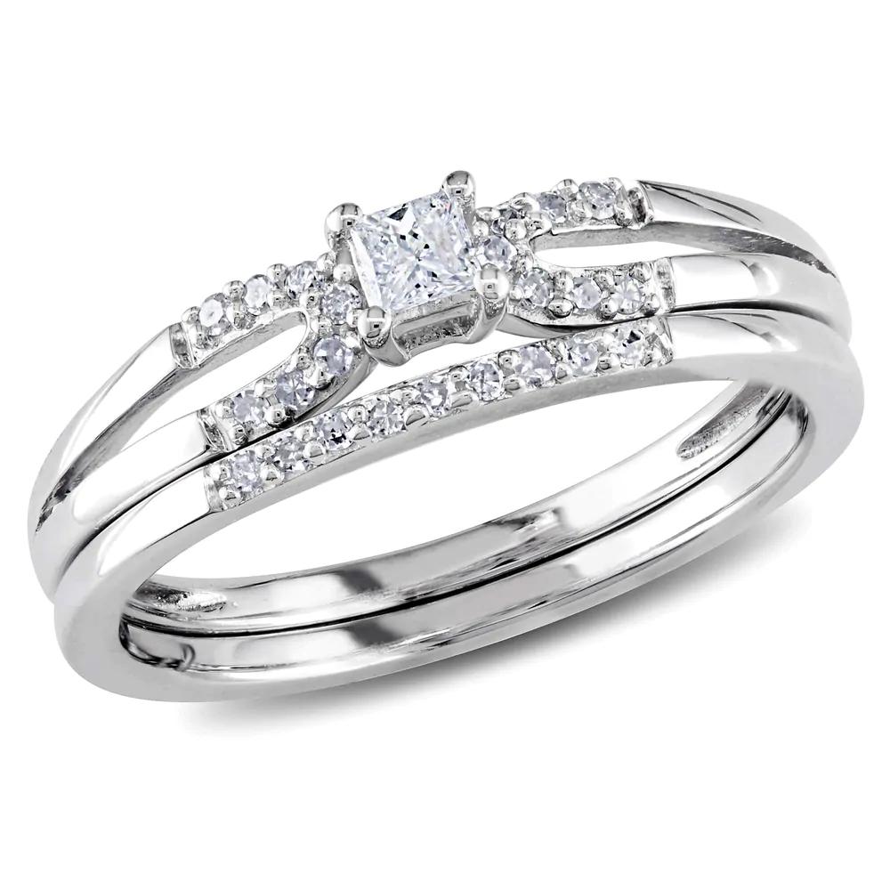 Miadora Sterling Silver Bridal Ring