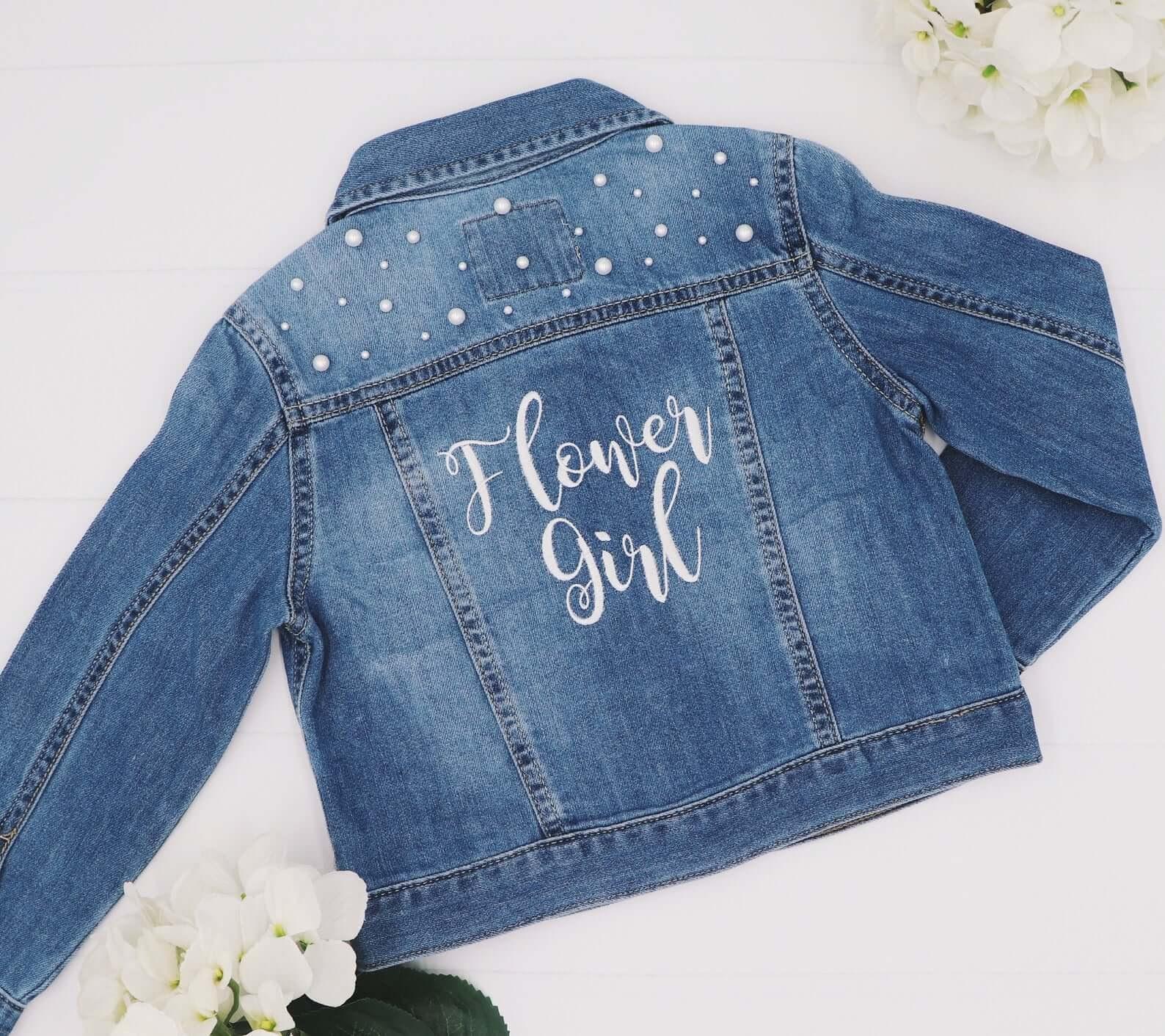 Flower Girl Denim Jacket