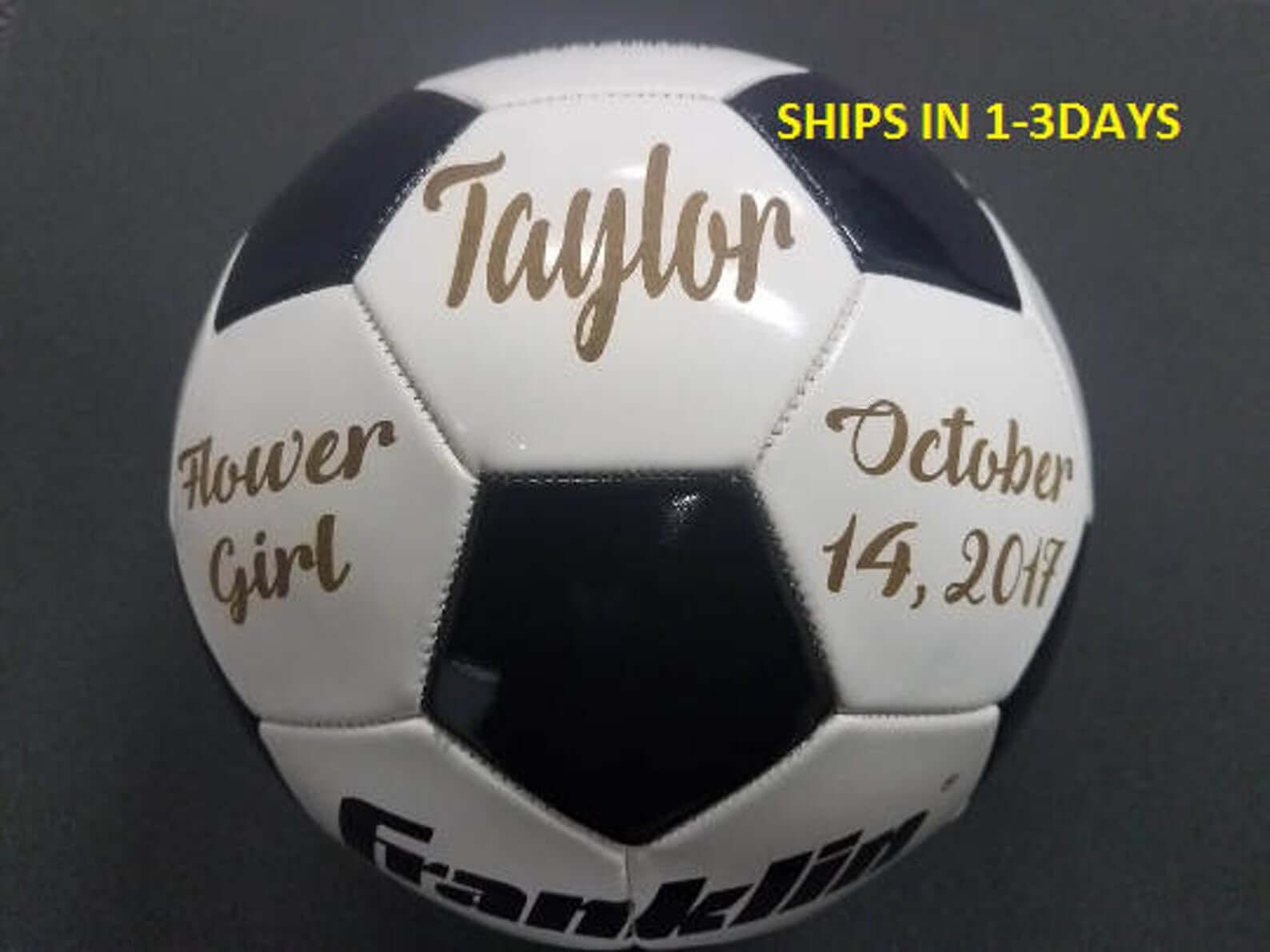 Flower Girl Soccer ball