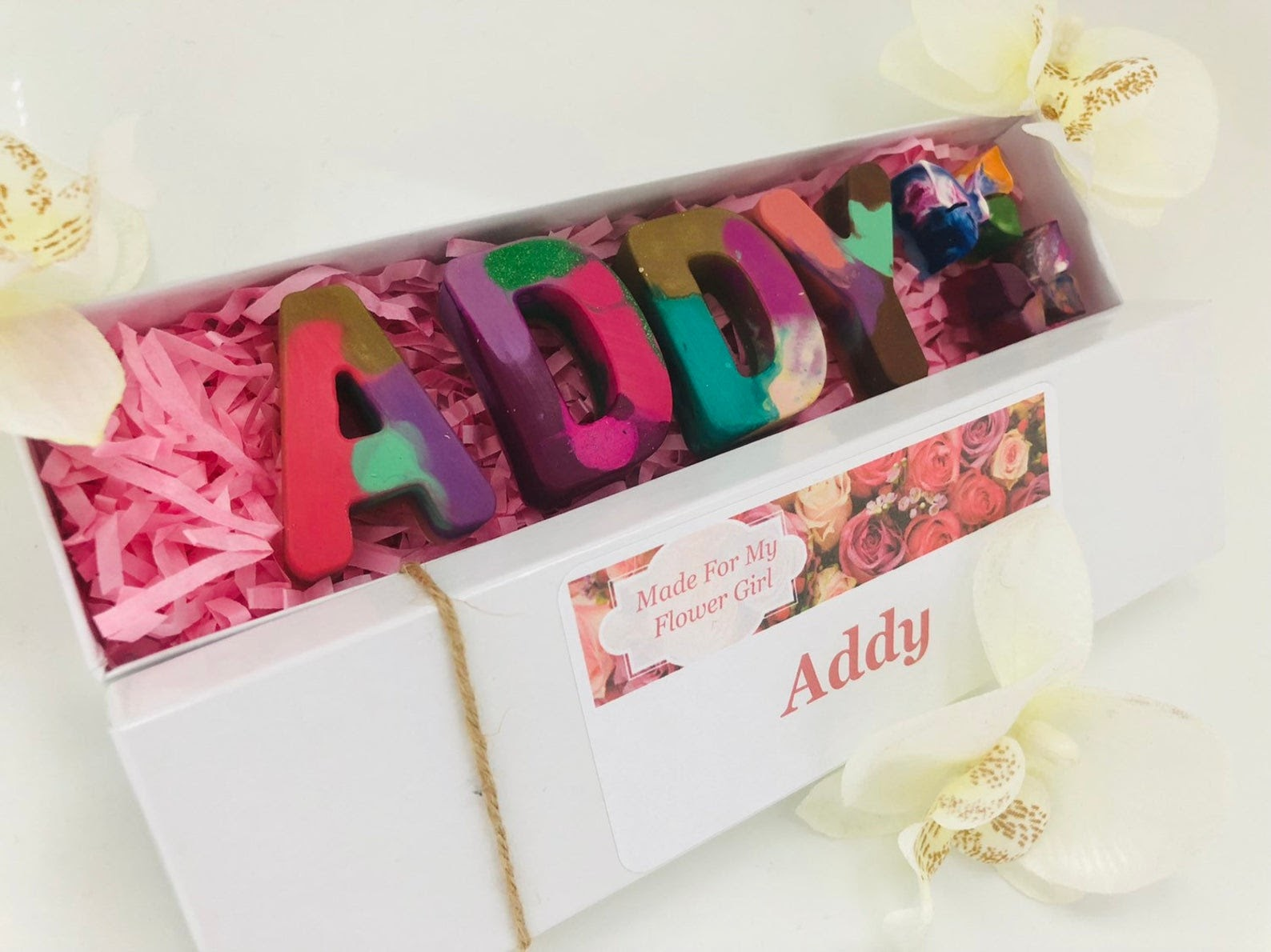 Flower Girl Crayon box