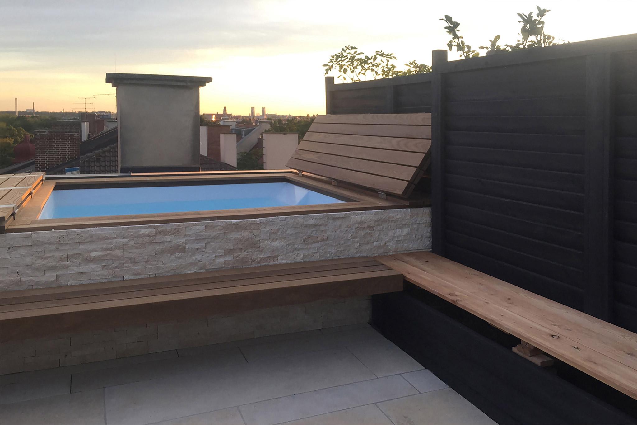 Sarger Architekten: Umbau und Sanierung einer bestehenden Dachterrasse am Baldeplatz in München