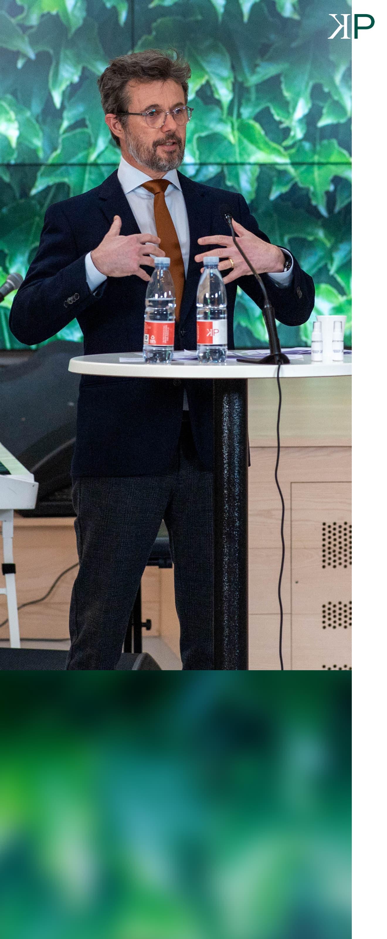 Kronprins Frederik ved KP Ledelse event