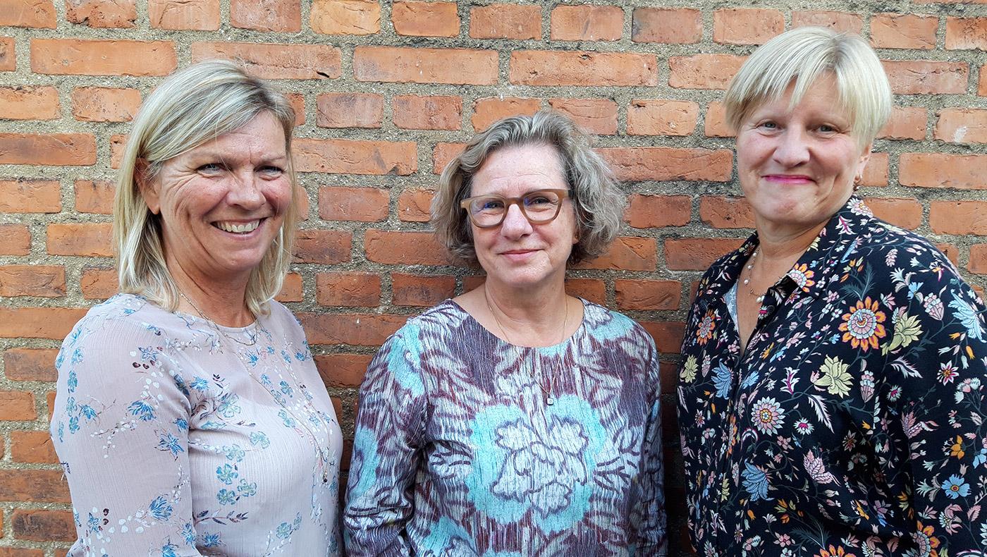 Jane Tidemand, Berit Engström og Anne-Mette Krifa.