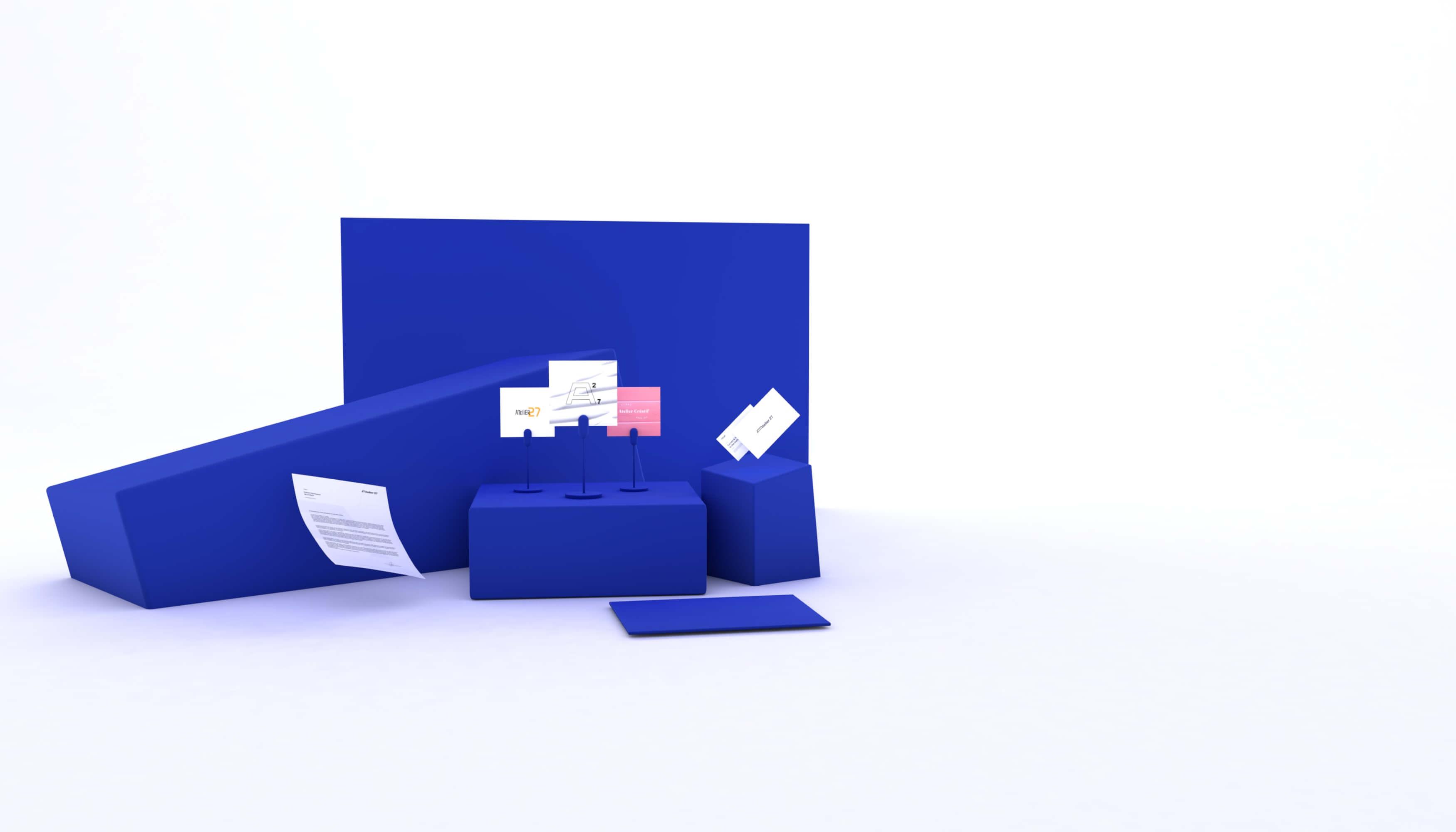 Création d'identité de marque à Bordeaux. Pack comprenant 3 propositions de logo, création et impression cartes de visite
