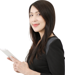 Woman reading closed captions on phone
