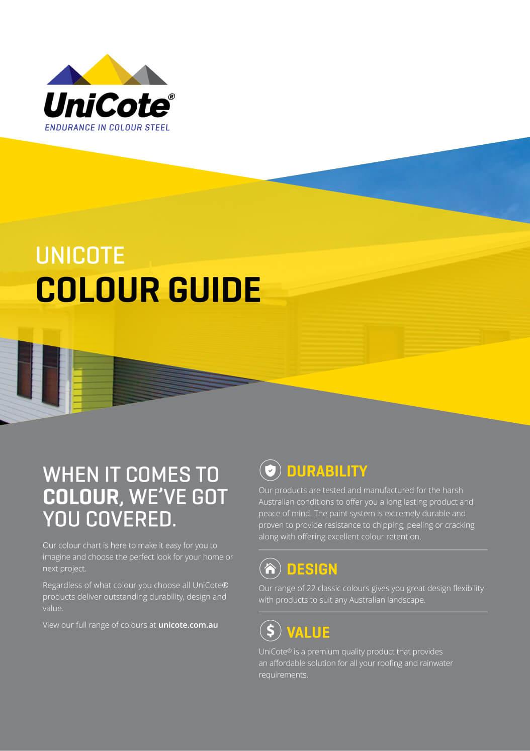 Unicote Colour Guide