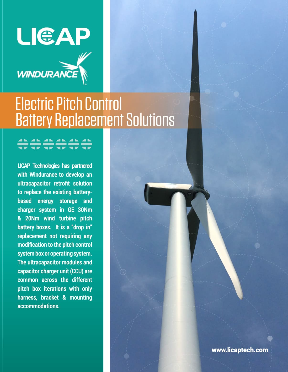 Electric Pitch ControlBattery Replacement Solutions