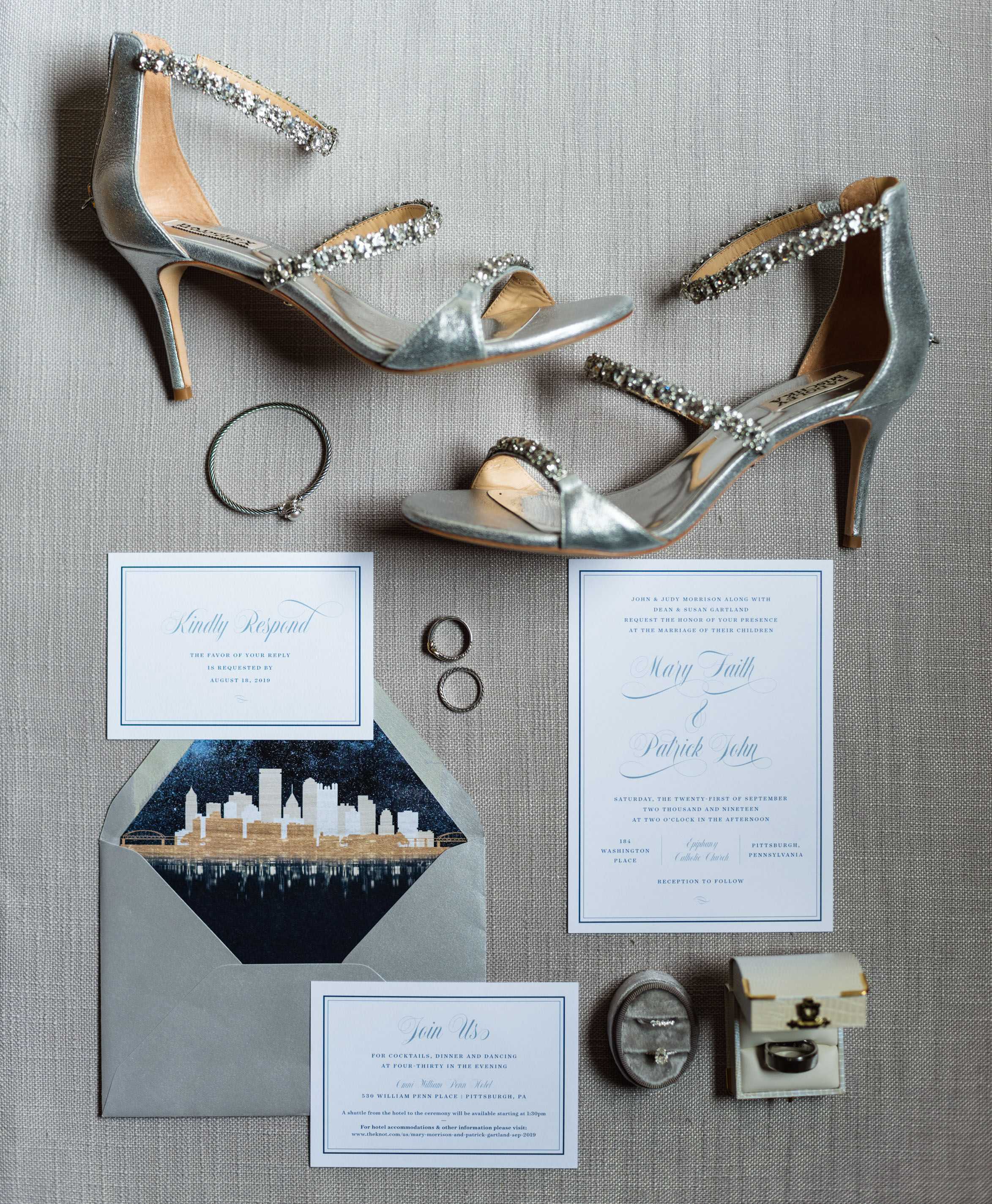 Pittsburgh Wedding Photographer Omni William Penn Shoes Layflat