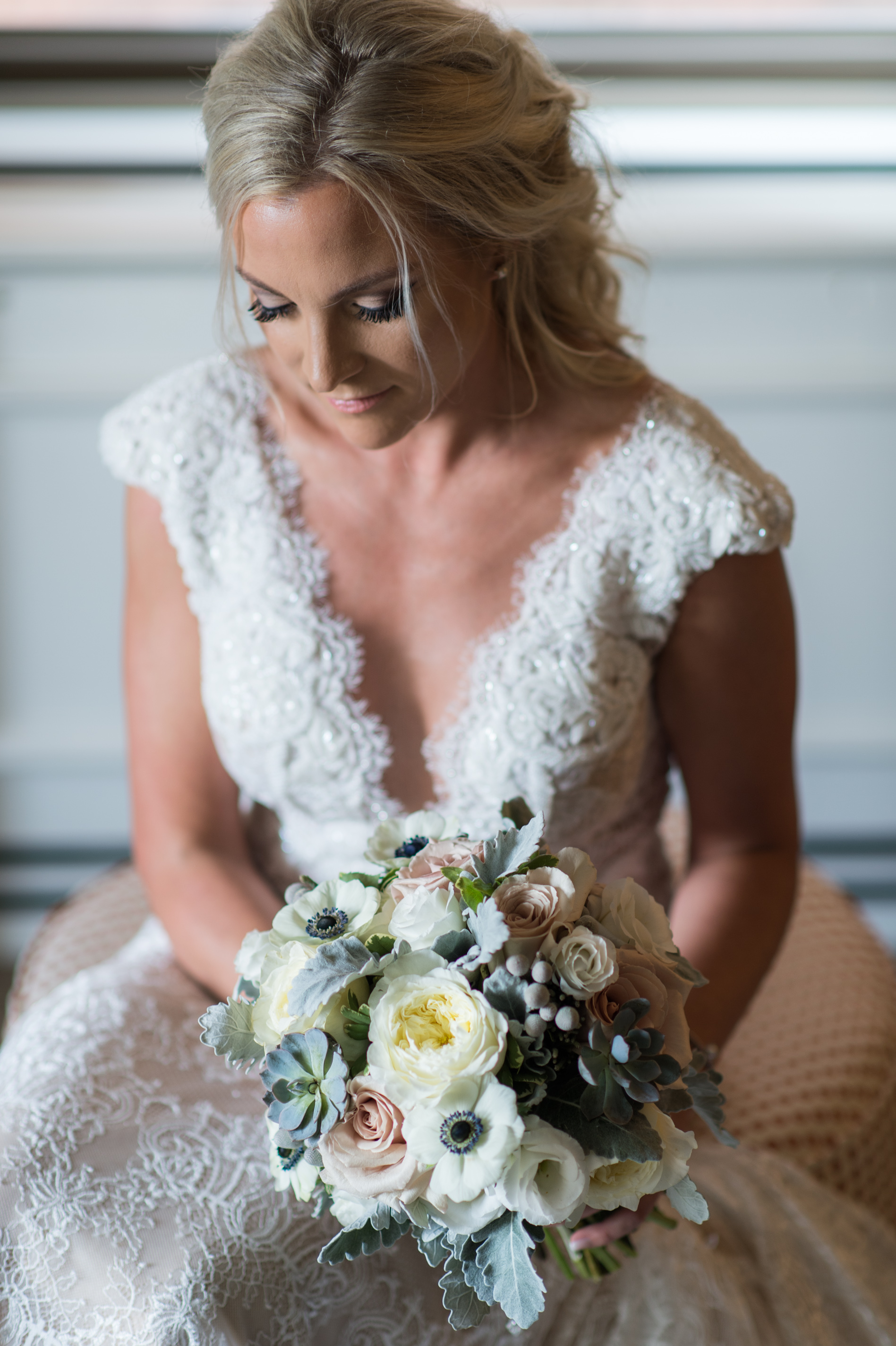 Pittsburgh Wedding Photographer Omni William Penn Bridal Prep Flowers Fragile Paradise