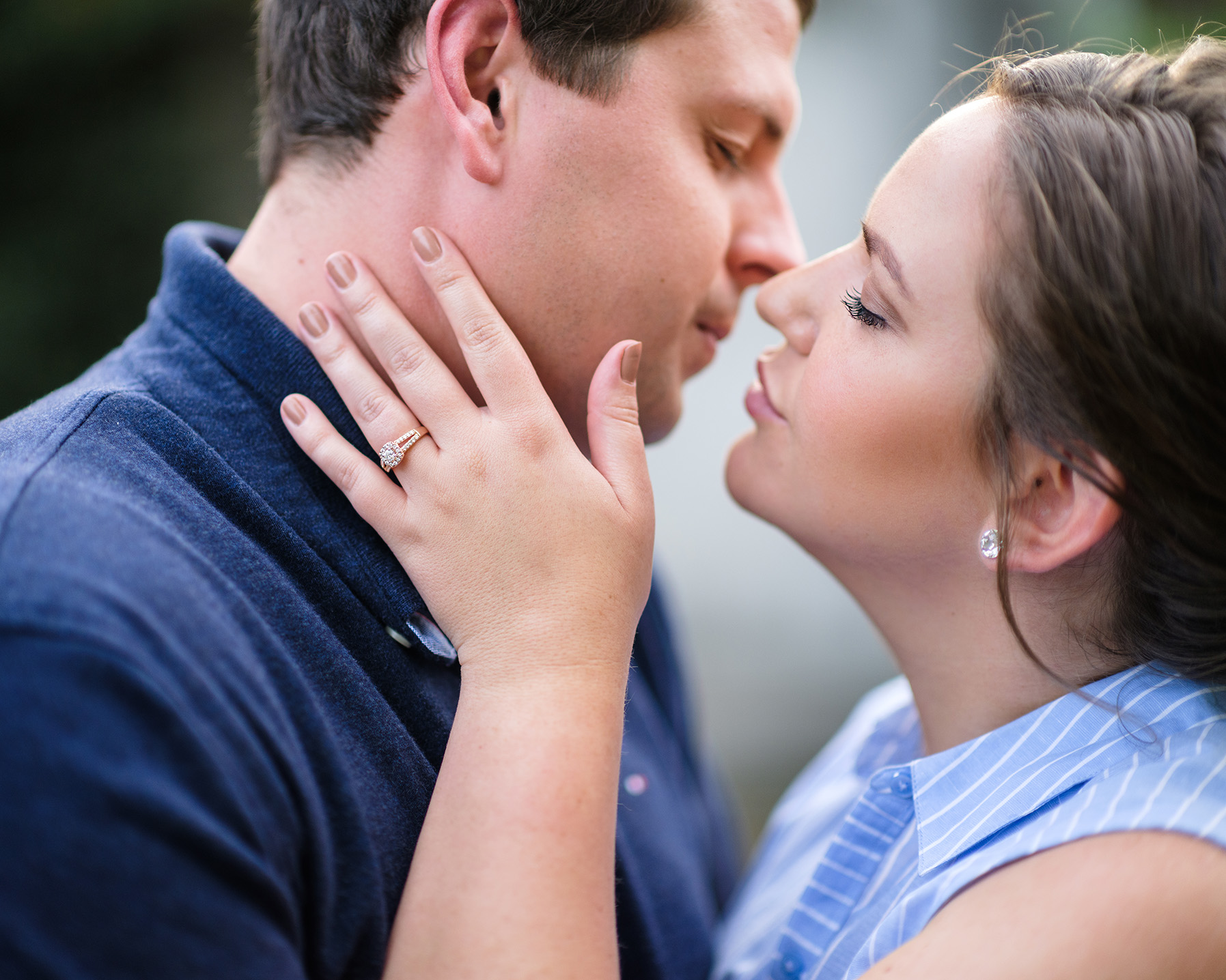 Pittsburgh Engagement Photographer Romantic Pose
