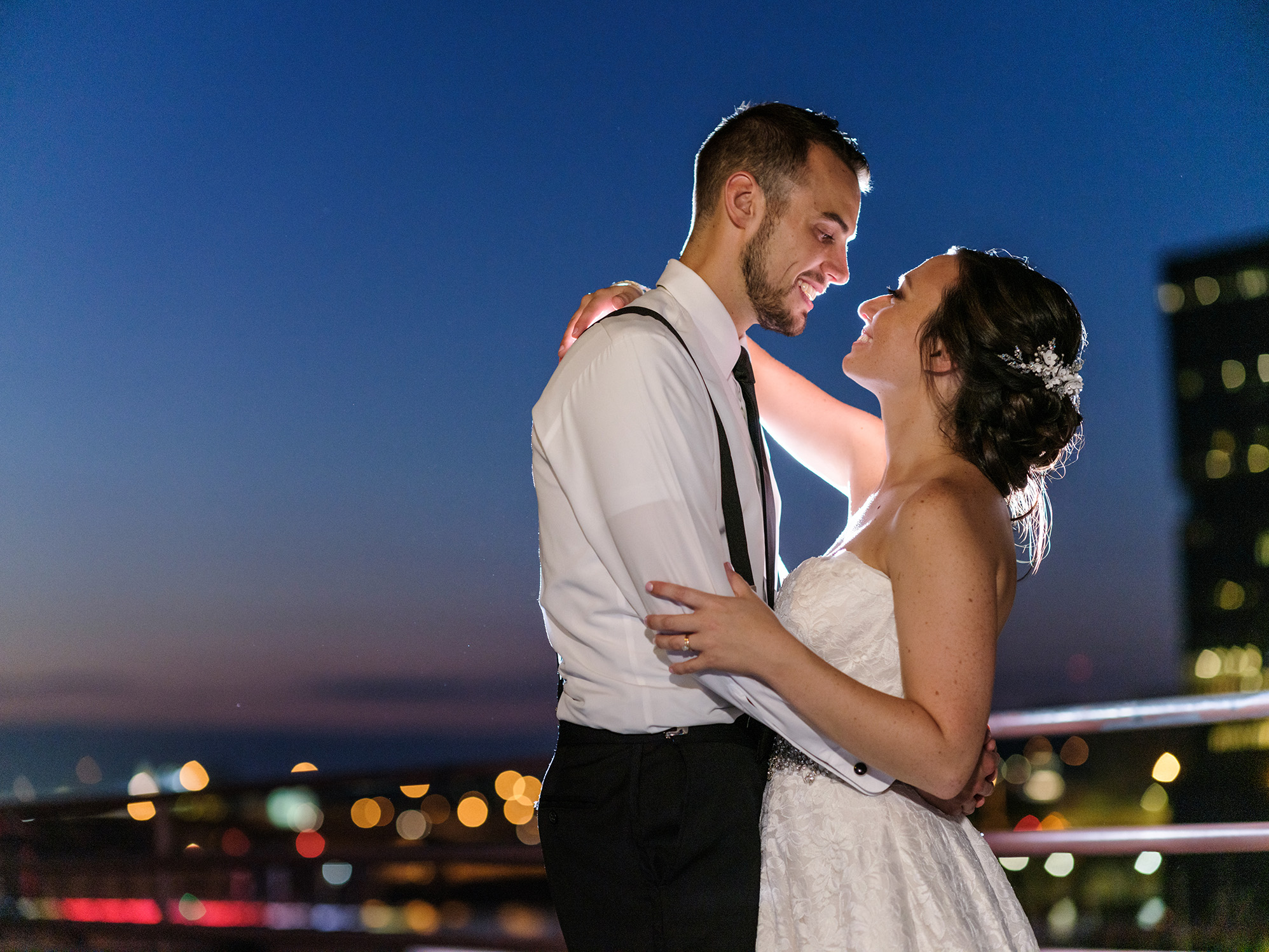 Pittsburgh Wedding Photographer Sheraton St Pauls Cathedral Night Portrait