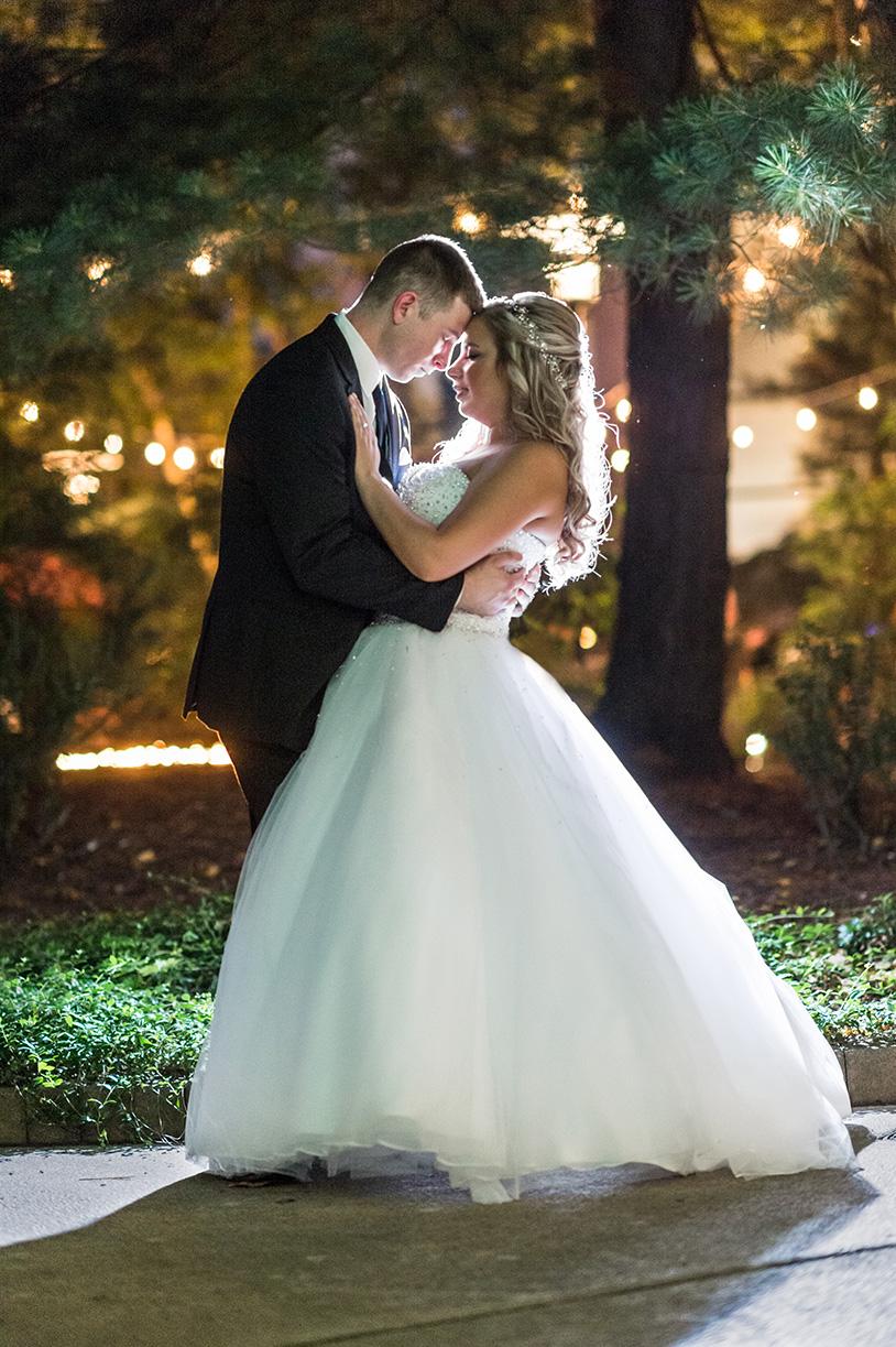 Pittsburgh Wedding Photographer Marriott Airport  Night Portrait