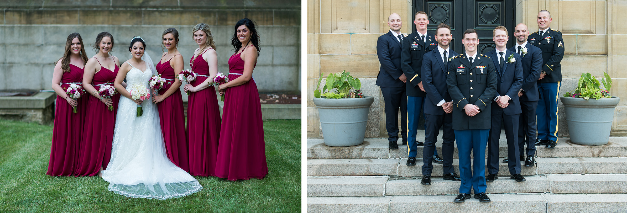 Pittsburgh Wedding Photographer Soldiers & Sailors Groomsman Bridesmaids