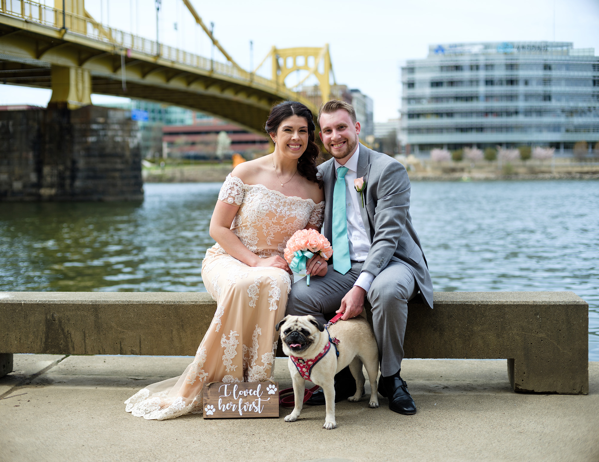 Pittsburgh Wedding Photographer Riverwalk