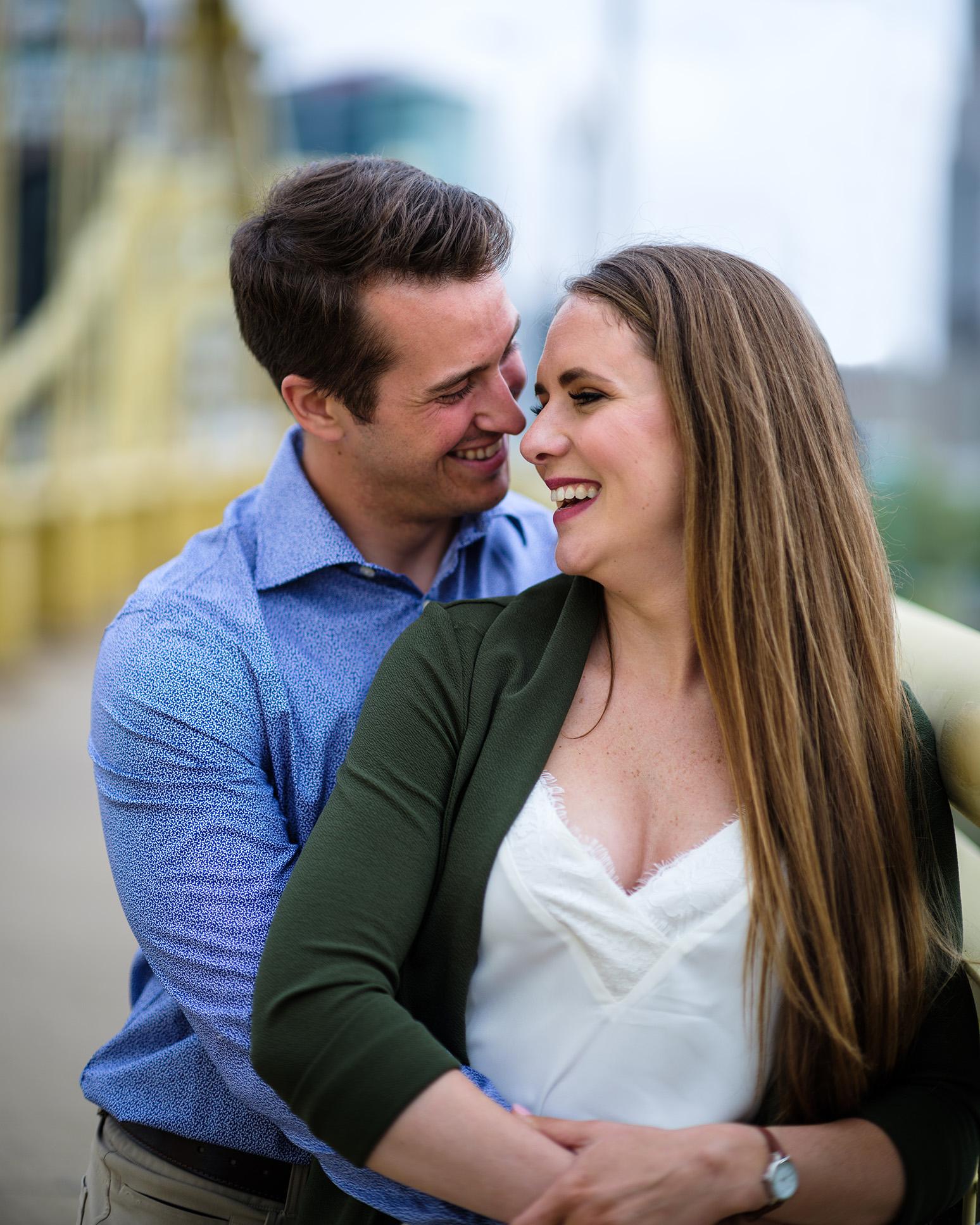 Pittsburgh Engagement Photographer Clemente Bridge