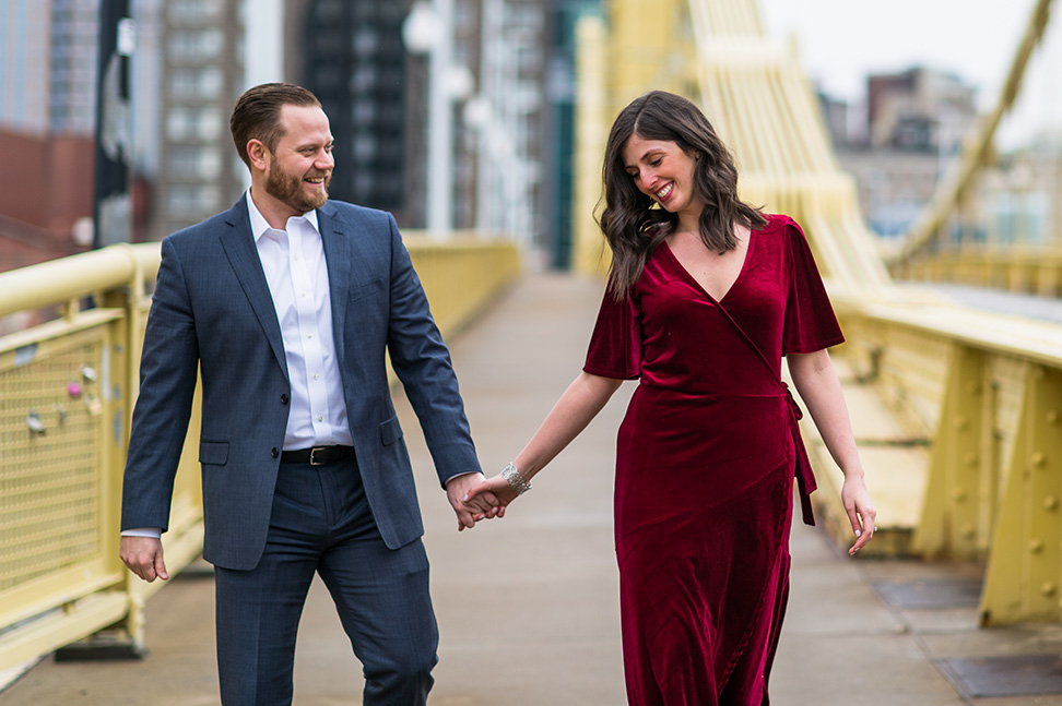 Pittsburgh engagement photographer chase images