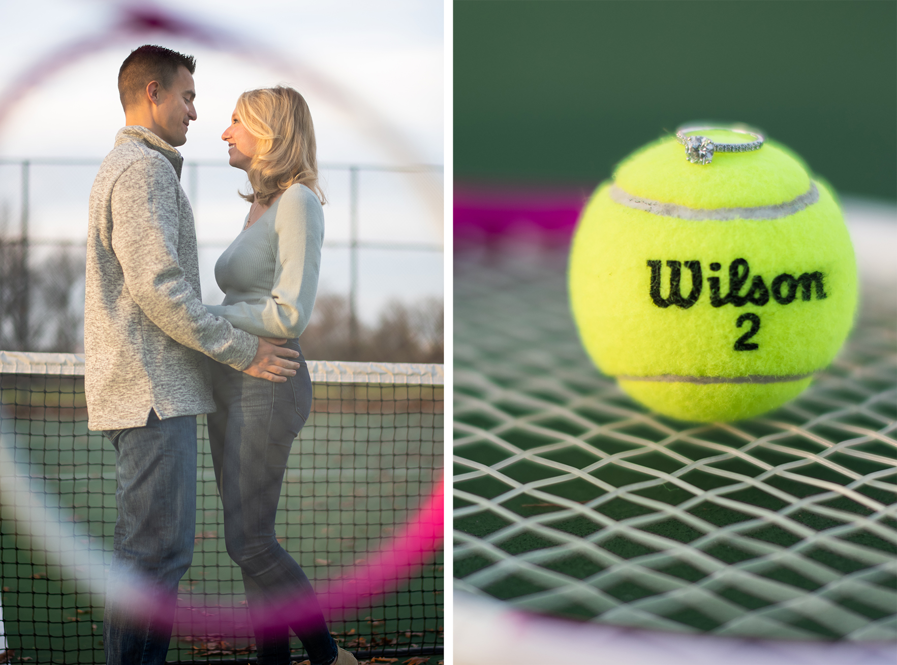 Pittsburgh Engagement Photographer Schenley Park Tennis