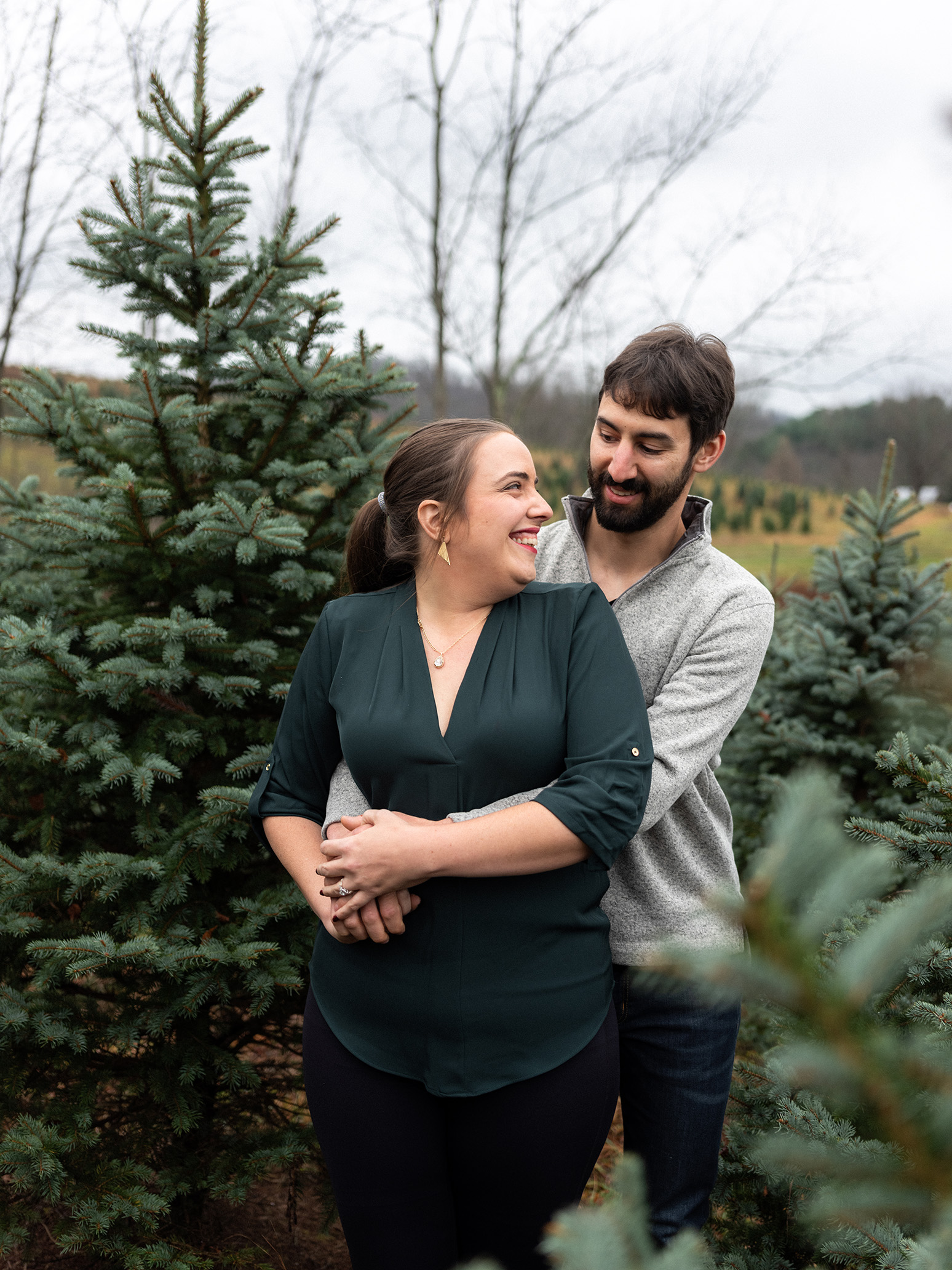 Pittsburgh Engagement Photographer Candle Tree Farm