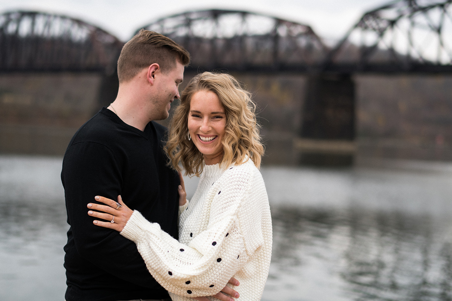 Pittsburgh Engagement Photographer Aspinwall Riverfront Park
