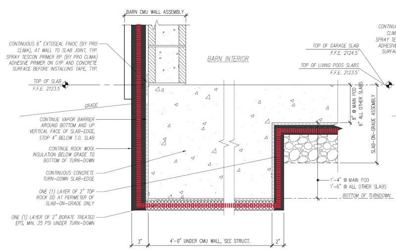 insulated slab edge
