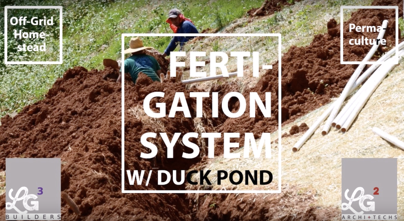 Fertigation System with Duck Pond, Off-Grid Homestead