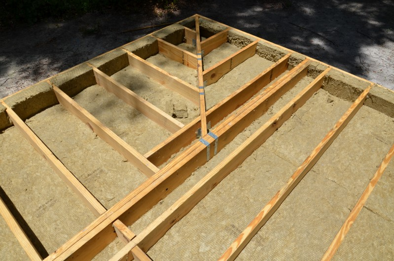 Rock Wool Insulation for Floor of High Performance Tiny House