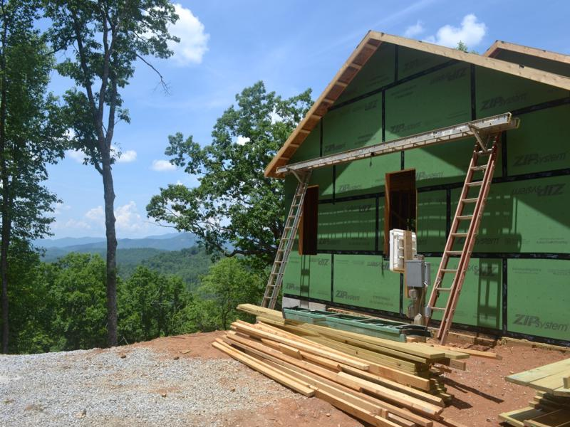 Raising the BARrier in North Carolina Mountain Home, Air Tight Ceiling