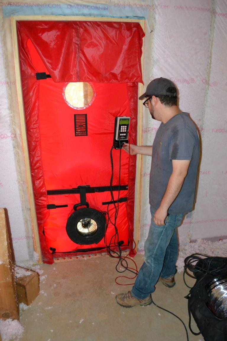 Blower Door Infiltration High Performance Bungalow