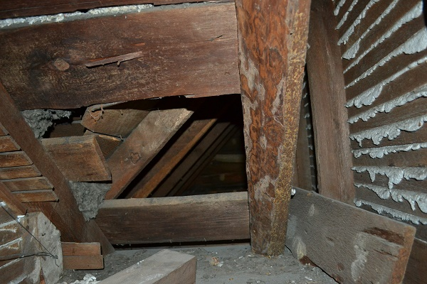 attic knee wall area historic home maryland 2