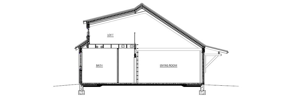 Design-Build Roswell High Performance Home_Short_Section