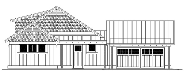 Design-Build Roswell High Performance Home_West Elevation