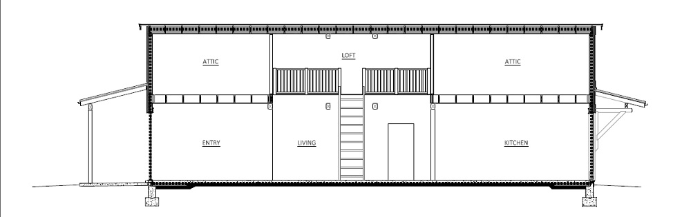 Design-Build Roswell High Performance Home_Long_Section
