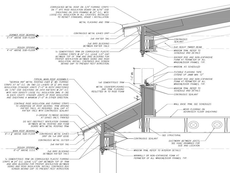 Design-Build Roswell High Performance Home_Wall Section Upper 2