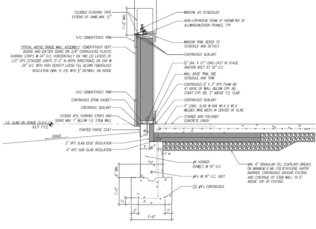 Design-Build Roswell High Performance Home_Wall Section Lower