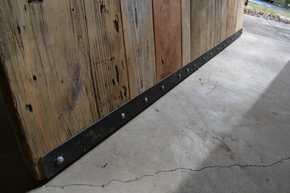 Bottom rail of Barn Door - Retired Bed Frame